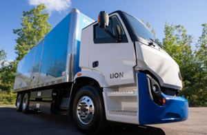 An electric truck by Lion Electric
